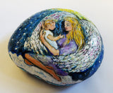 Sweet Angels Painted Rock