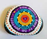 Awesome Life Painted Rock
