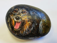 Smiling Dog Painted Rock