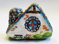 A-Frame Fairy Cottage Painted Rock