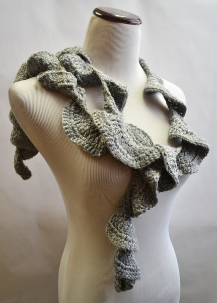 Grey Twirly Scarf