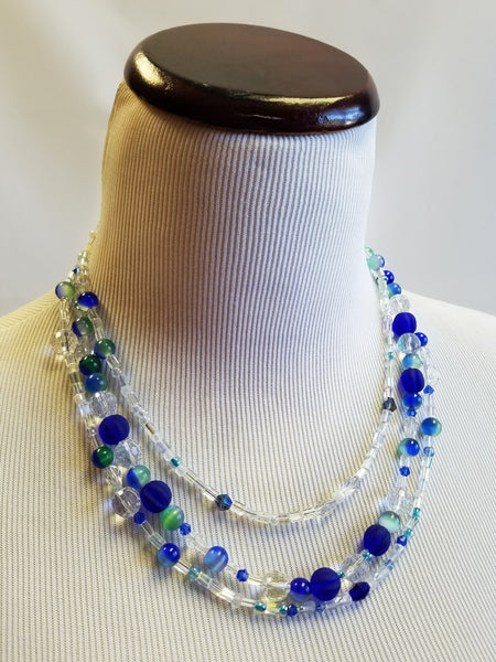 Crystal Waters Beaded Necklace