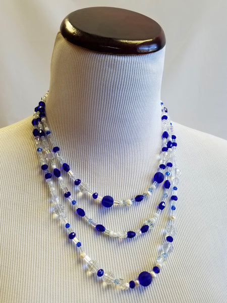 Royal Sapphire Beaded Necklace