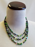 Deep Forest Beaded Necklace