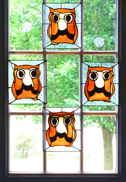 Stained Glass Wise Old Owl