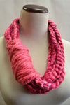 Braided Pink Infinity Scarf