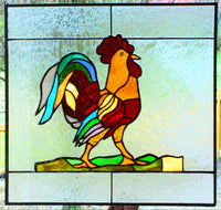 Ted the Rooster Stained Glass