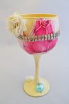Floral Decorative Wine Glass