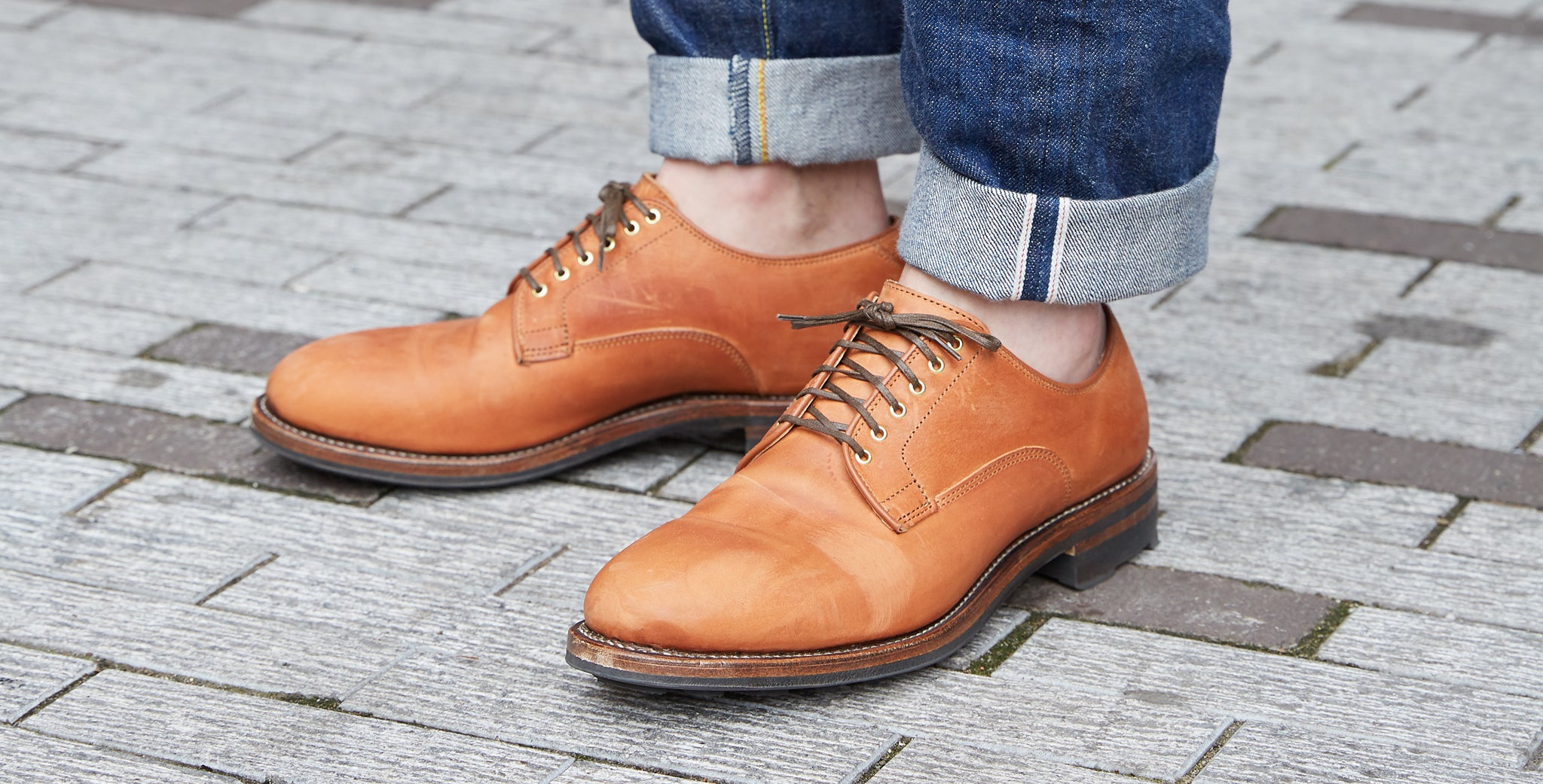 Division Road Tannino Vitello Calf Derby Shoe