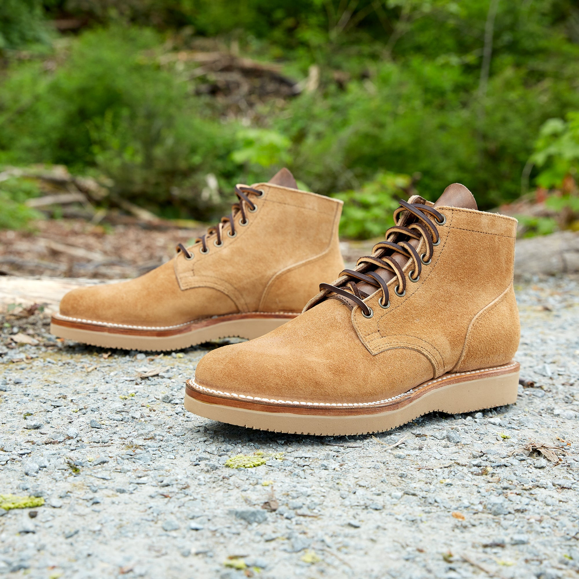 Division Road Viberg Faded Wheat Chamois Roughout Service Boot