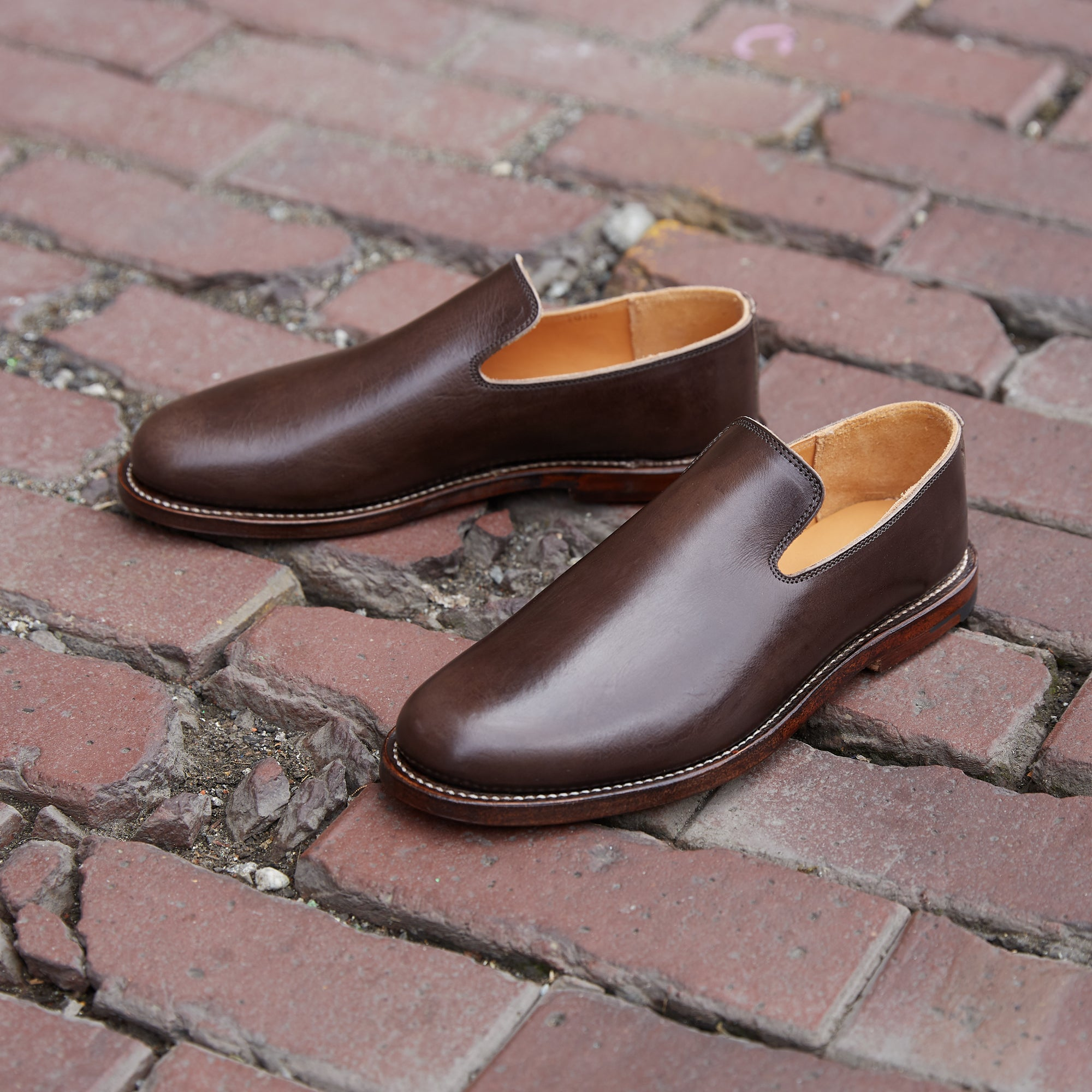 Division Road Port Glazed Calf Slipper