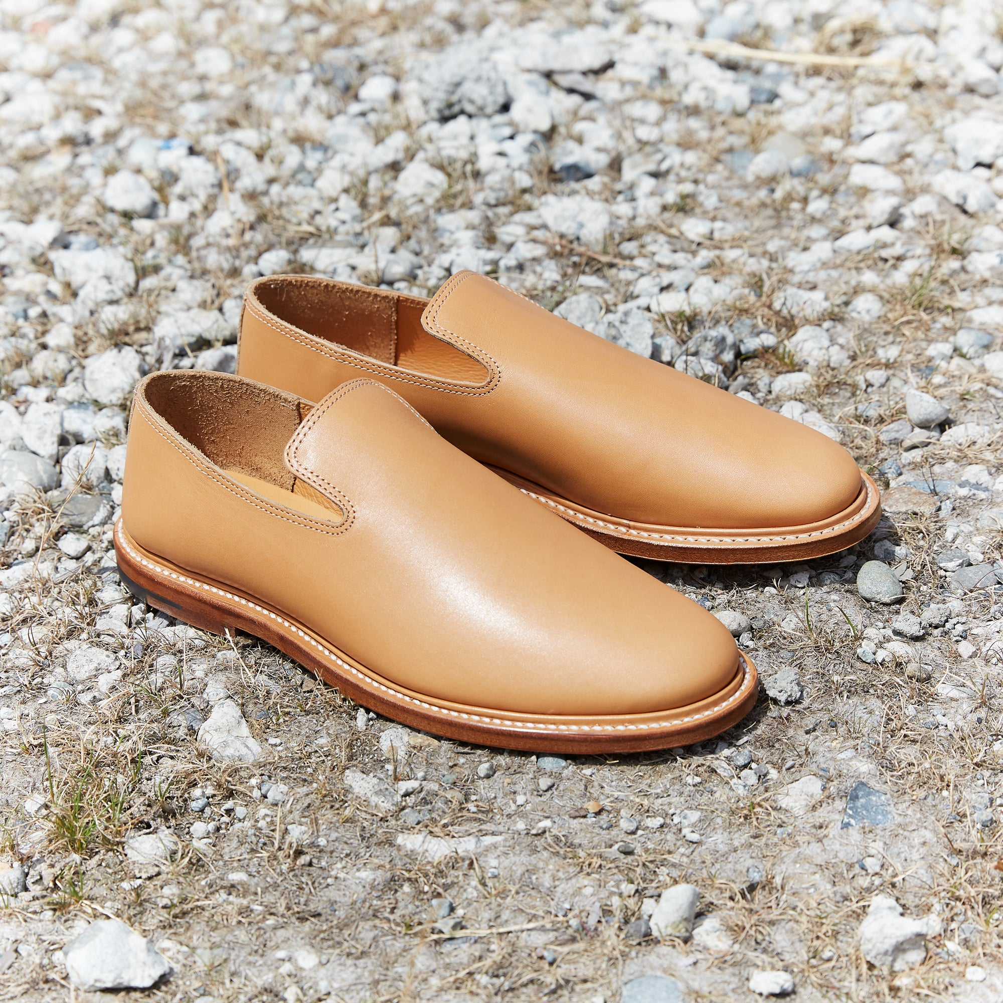 Division Road Viberg SS20 Natural Japanese Calf Slipper