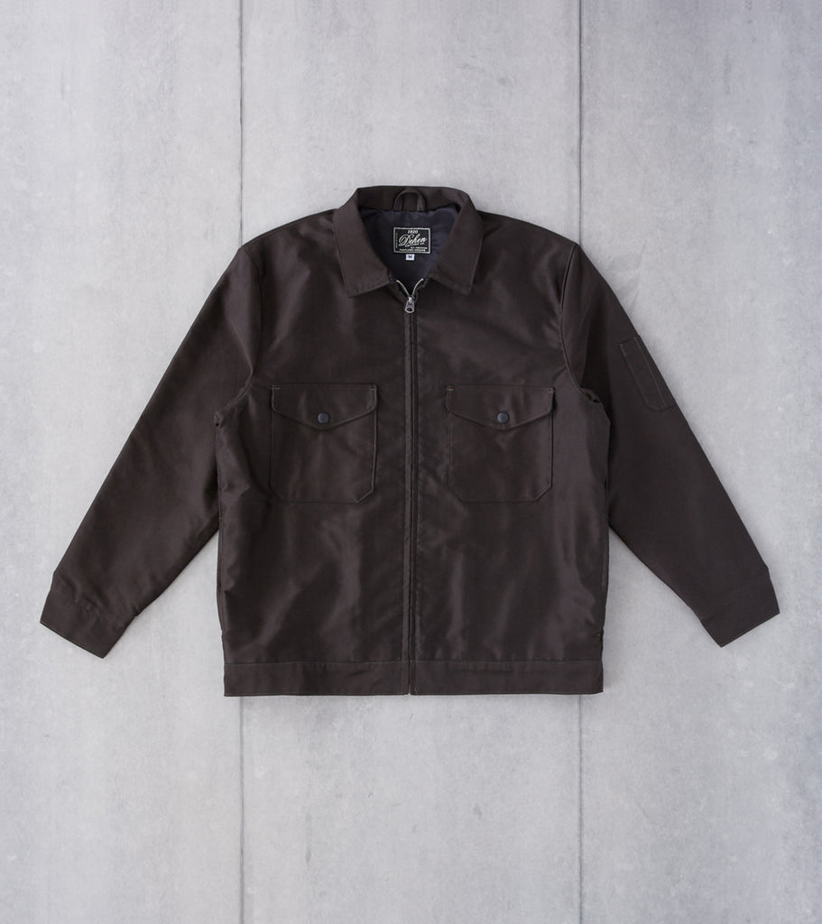Dehen 1920 Mechanics Jacket - Japanese Canvas - Black & Gold Division Road