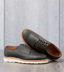 Viberg x Division Road Derby Shoe - 1035 - Christy - Military Green Waxed Kudu