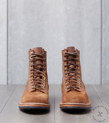 White's x Division Road LTT Logger 375 - Vibram Mini Lug - Distressed Roughout & Crazy Chief