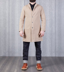 Nine Lives Fisherman Chino Duster Coat - Beige