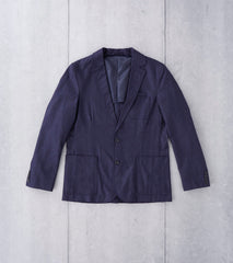 Wool Spec Blazer - Navy