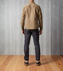 Shockoe Atelier Field Shirt Selvedge Twill Khaki Division Road