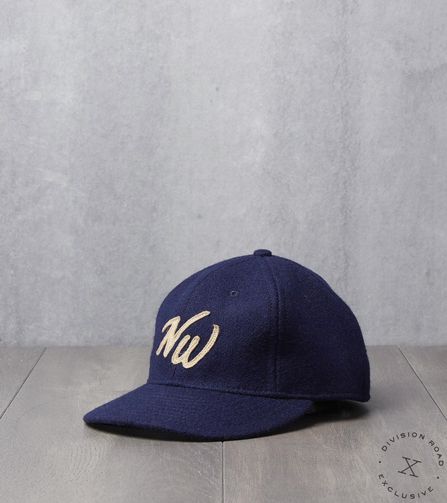Ebbets Field x Division Road NW Cap - Fitted - Navy Pendleton® Melton