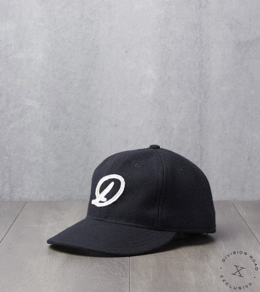 Division Road Cap - Fitted - Black Wool