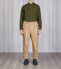 English Convertible Trousers - Dark Khaki Japanese Twill