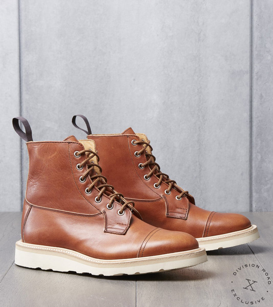 Tricker's x Division Road Allan Cap Toe Boot - Christy - Horween Sienna Latigo