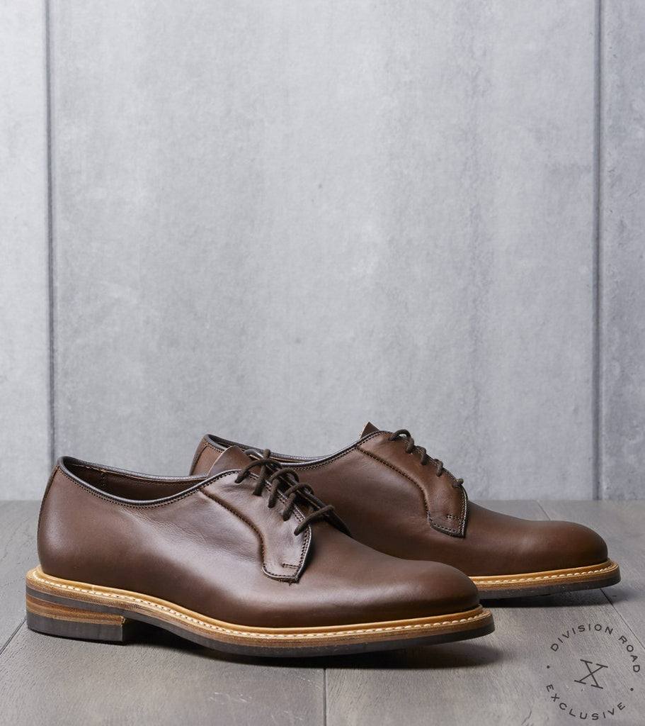 Tricker's x Division Road Robert Derby Shoe - Dainite - Horween Brown CXL