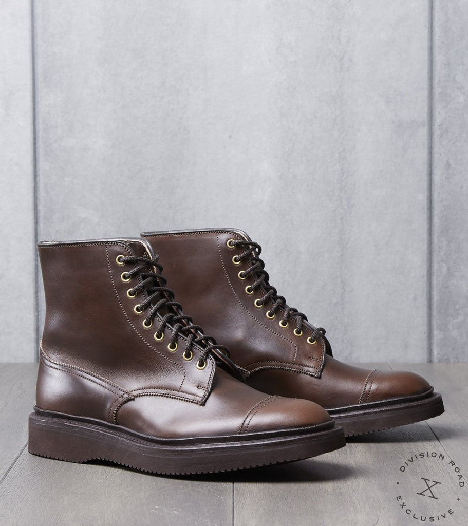 Tricker's x Division Road Churchill Boot - Vibram 2060 - Horween Walnut Cavalier