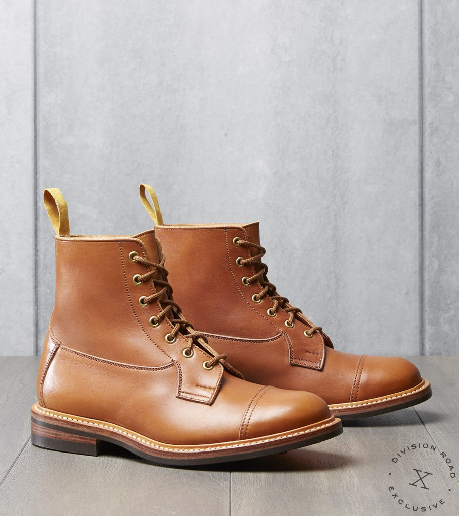 Tricker's x Division Road Allan Cap Toe Boot - Dainite - Gold MC