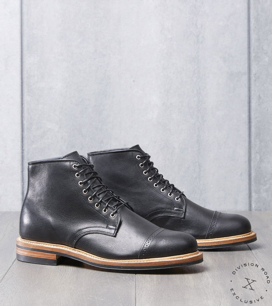 Viberg x Division Road Derby Boot - 2030 - Dainite - Black Camel
