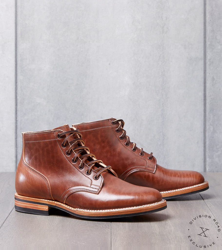 Viberg x Division Road Service Boot - 1035 - Dainite - Italian Brown Horsebutt