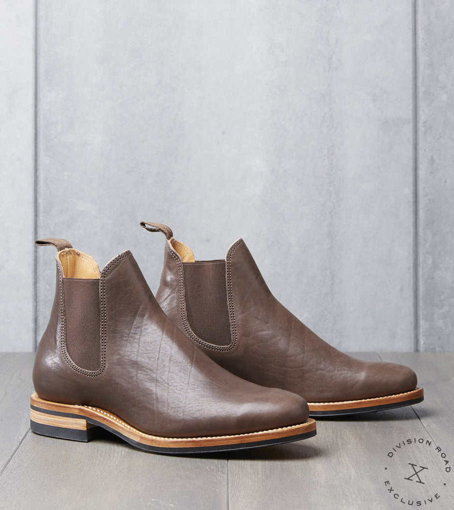 Viberg x Division Road Chelsea Boot - 2050 - Dainite - Dark Brown Washed Horsehide