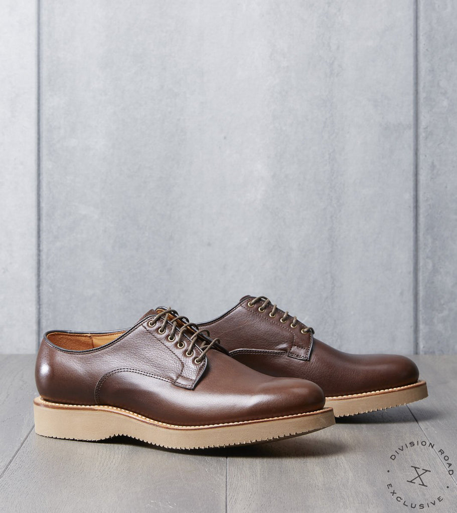 Viberg x Division Road Derby Shoe - 2030 - Vibram 2060 - Brown Oiled Calf