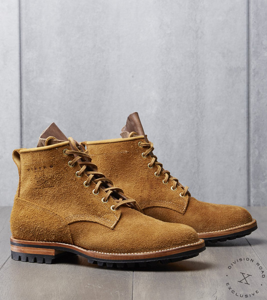 Viberg x Division Road IVY Street Bobcat - 2030 - Commando – Wheat Nubuck Roughout