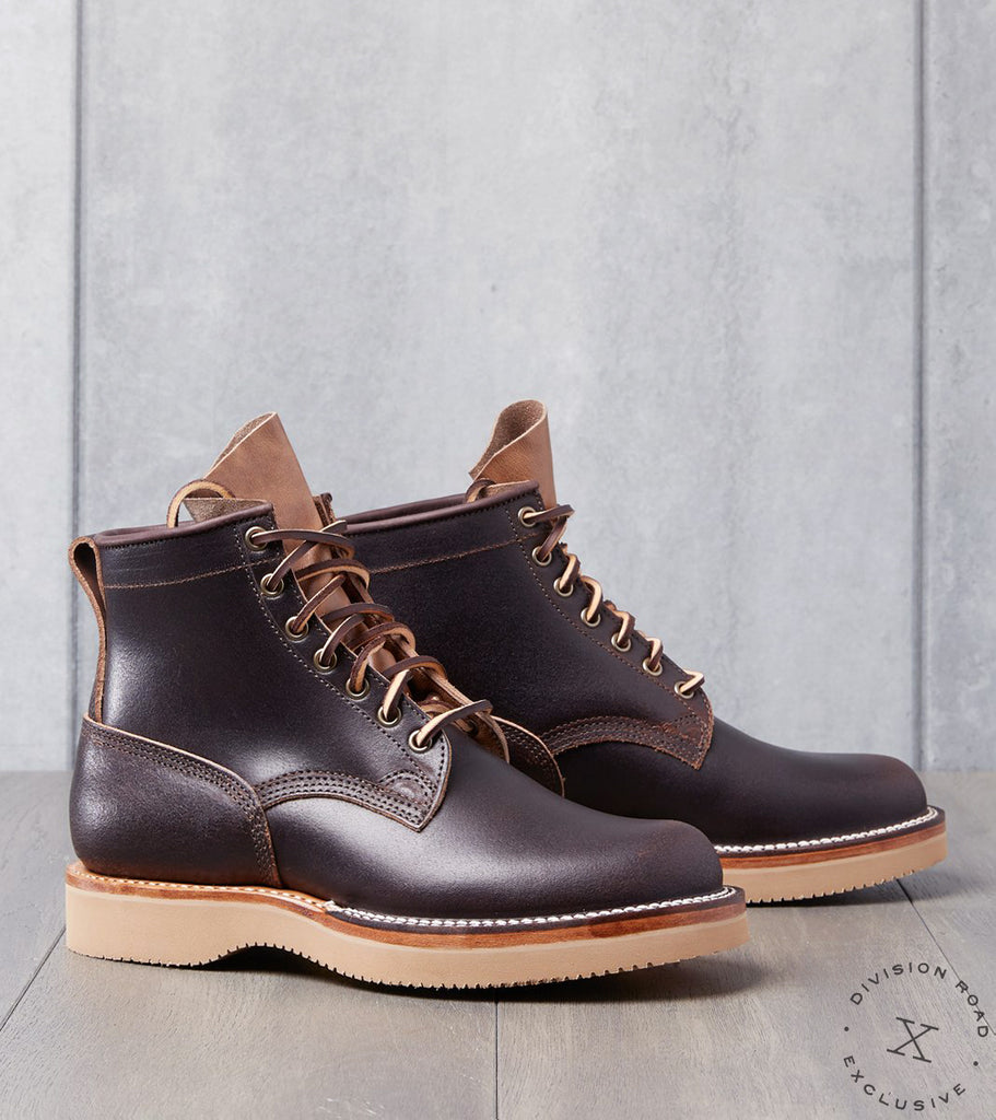 Viberg x Division Road Bobcat - 2040 - Vibram 2060 - Brown Waxed Flesh