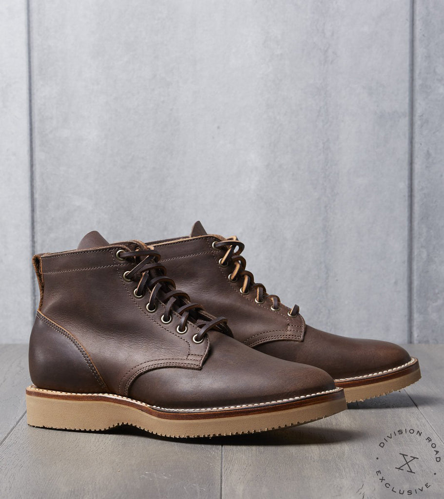 Viberg x Division Road Service Boot - 1035 - Vibram 2060 - Walnut Oil Tan