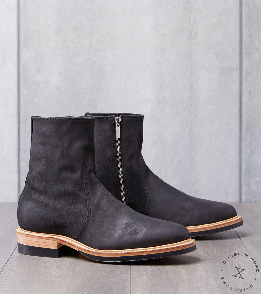 Viberg x Division Road Side Zip Boot - 2050 - Vibram 705 - Black Split Horsebutt