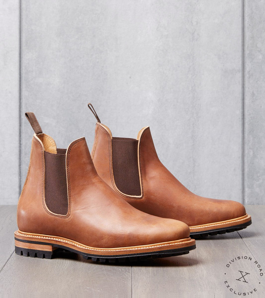 Viberg x Division Road High Chelsea Boot - 2050 - Commando - Natural Toscanello Horsebutt