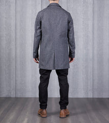 Static Twill Mac Coat - Marled Black