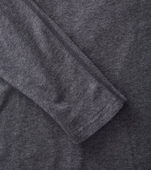 Reigning Champ Long Sleeve Tee - Heather Charcoal