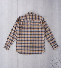Freemans Sporting Club x DR CS-1 Shirt - Japanese Plaid Flannel - Brown Division Road