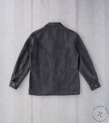 MotivMfg x Division Road French F-2 Fatigue Jacket - Anthracite Belgium Linen Canvas