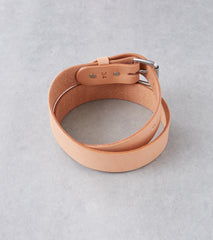 Tanner Goods Standard Belt - Stainless - Natural Division Road