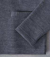 Dehen 1920 x DR Collegiate Cardigan - Charcoal/Luggage Division Road