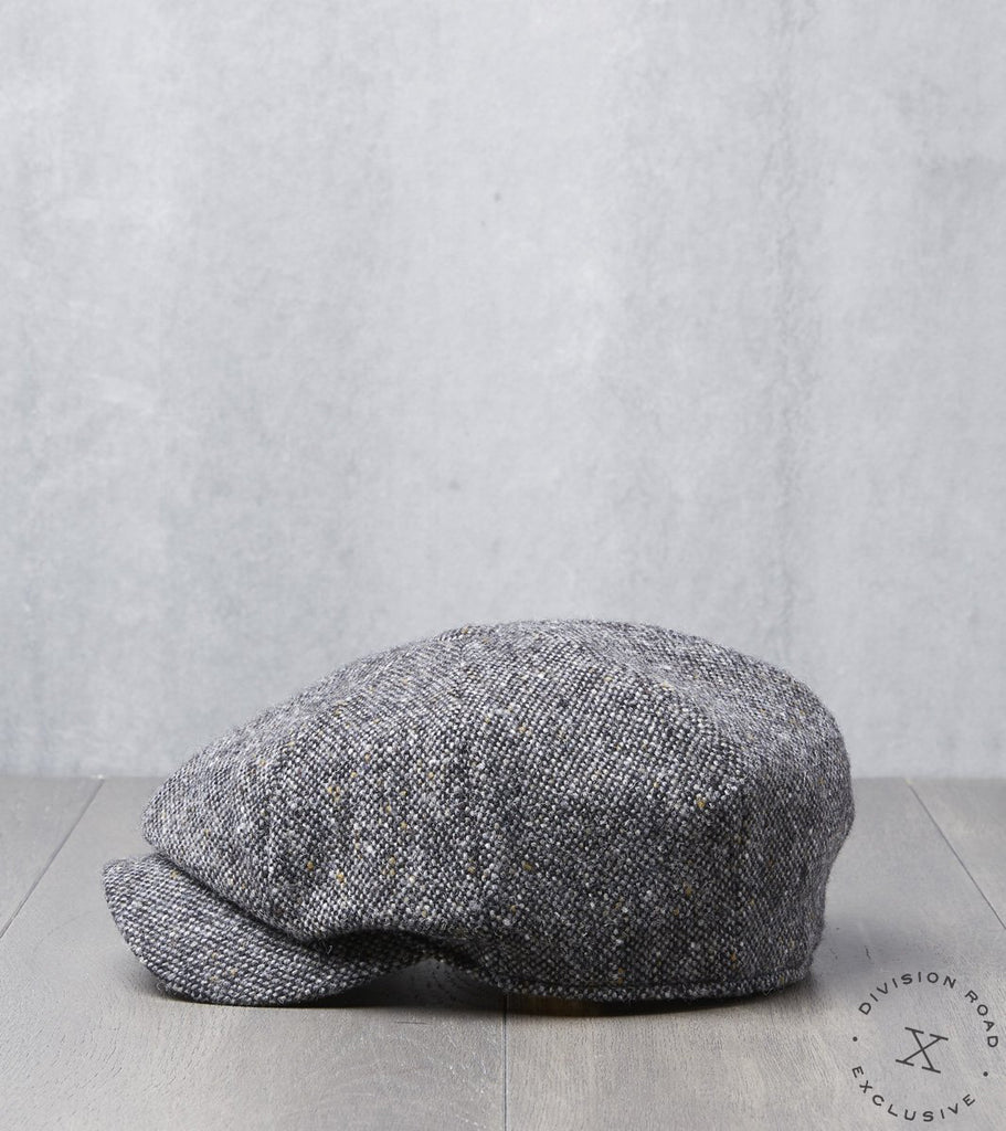Bates Gentleman's Hatter Gatsby Cap - Magee Donegal Tweed - Grey Division Road