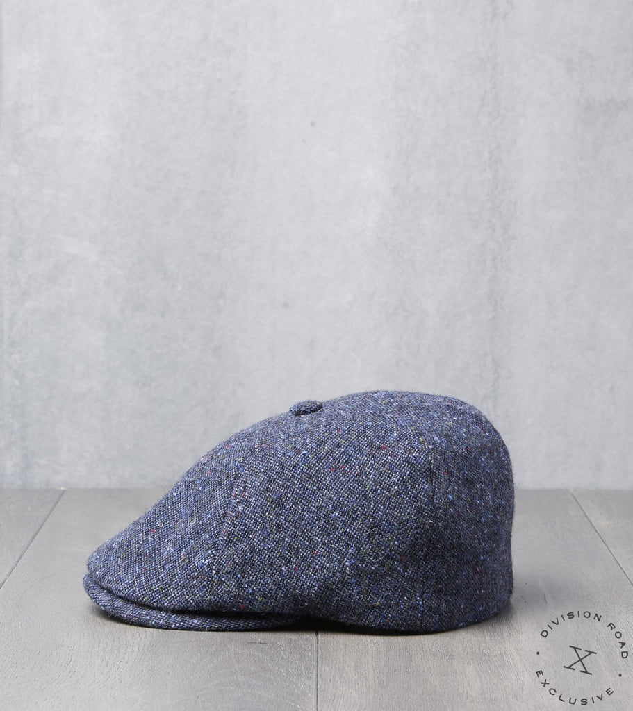 Bates Gentleman's Hatter Toni Cap - Donegal Tweed - Navy