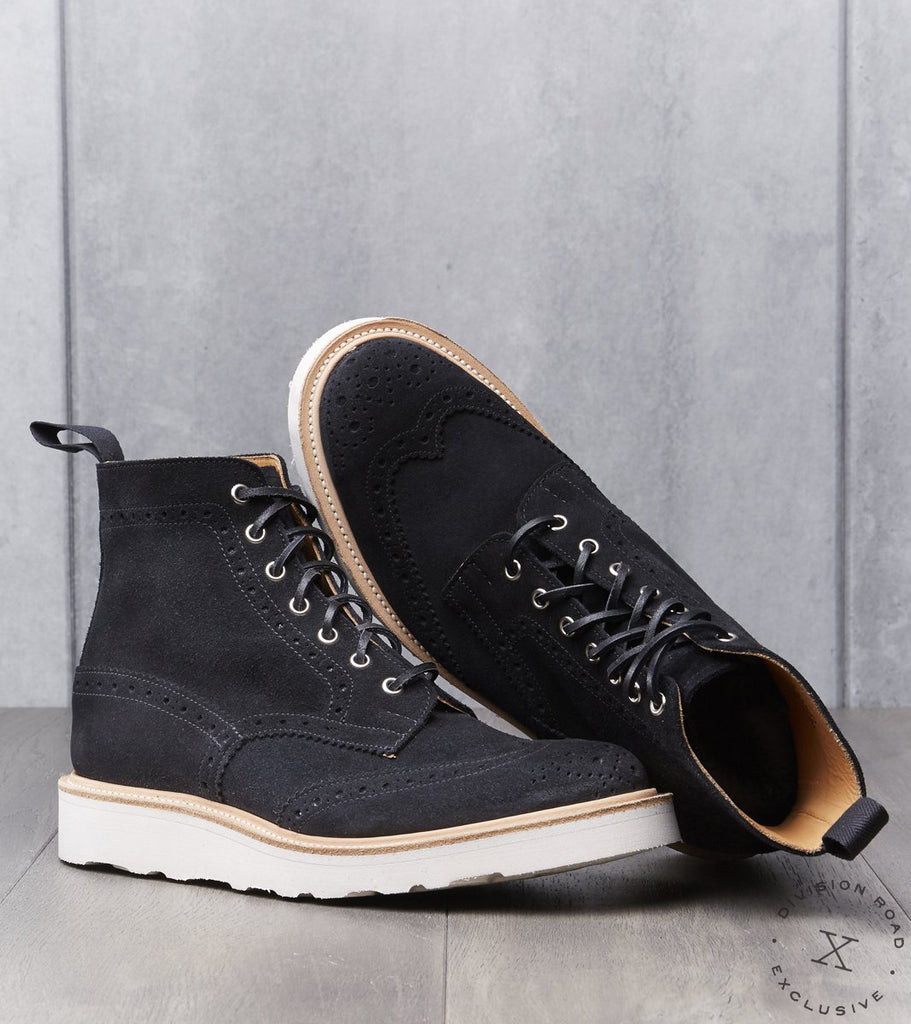 Tricker's x Division Road Stow Boot - Morflex - Black Repello