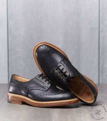 Tricker's x Division Road Bourton Brogue Derby - Leather - Black MC