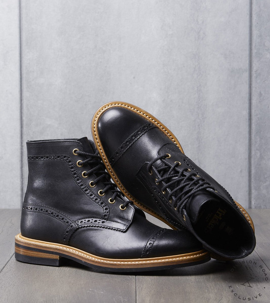 Tricker's x Division Road Eaton Boot - Dainite - Horween Black Dublin