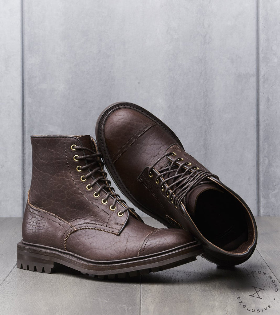 Tricker's x Division Road AAP Churchill Officer Boot - Commando - Mechanical Leather - Horween